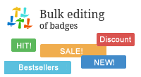 Bulk editing of badges
