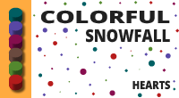 Colorful snowfall